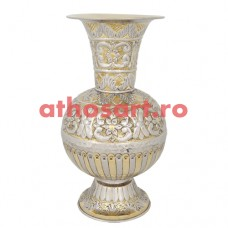 Vaza flori aurita si argintata (49 cm) cod P76-162GN